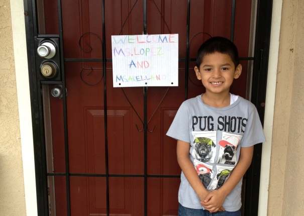 A student waits for his teachers to arrive. Featured in a report by the director of the Parent Teacher Home Visit Project.